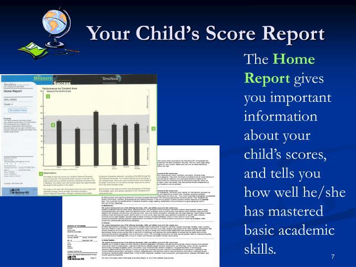 Your Child's Score Report