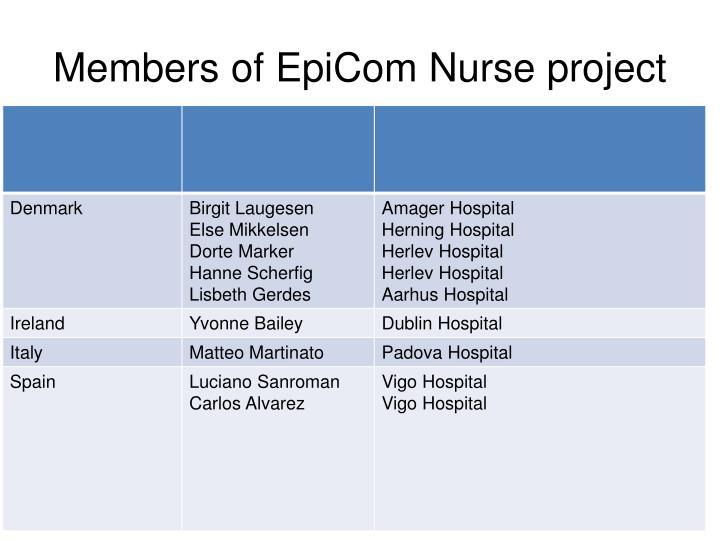 Members of EpiCom Nurse project
