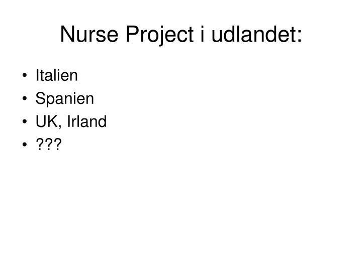 Nurse Project i udlandet: