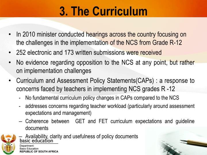 3. The Curriculum