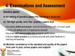 4 examinations and assessment