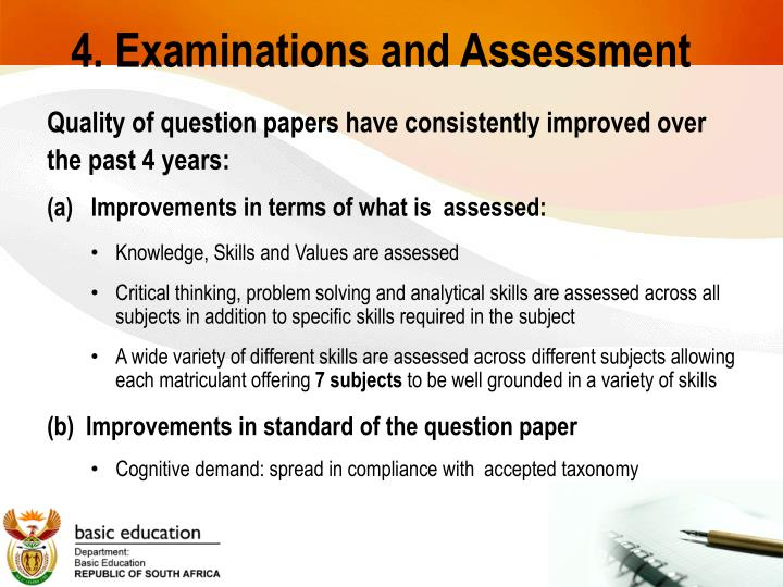 4. Examinations and Assessment