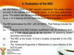 6 evaluation of the nsc2