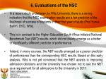 6 evaluations of the nsc1