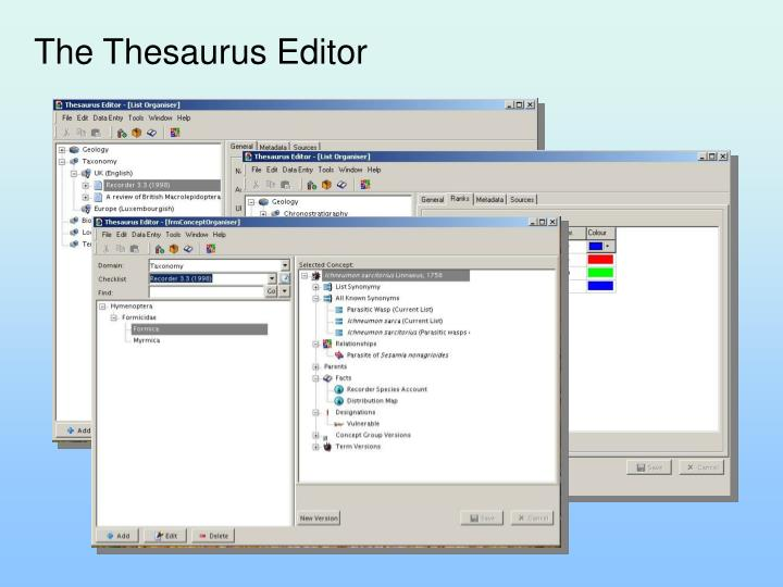The Thesaurus Editor