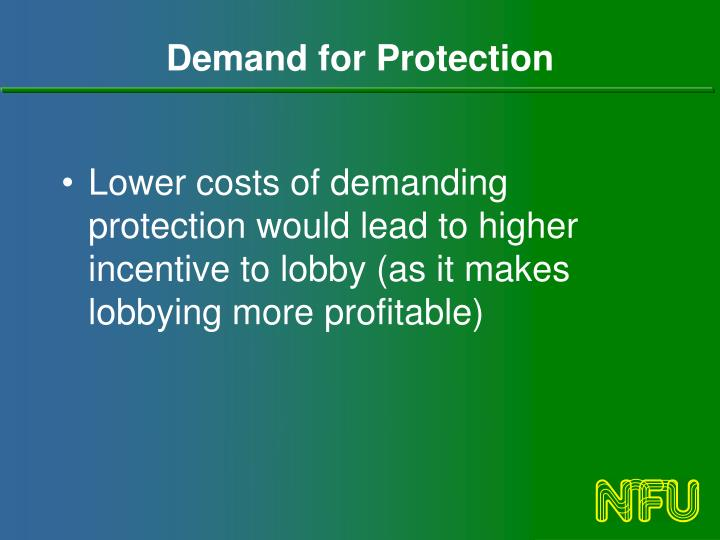 Demand for Protection