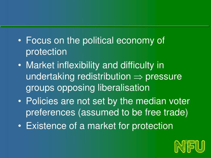 Focus on the political economy of protection