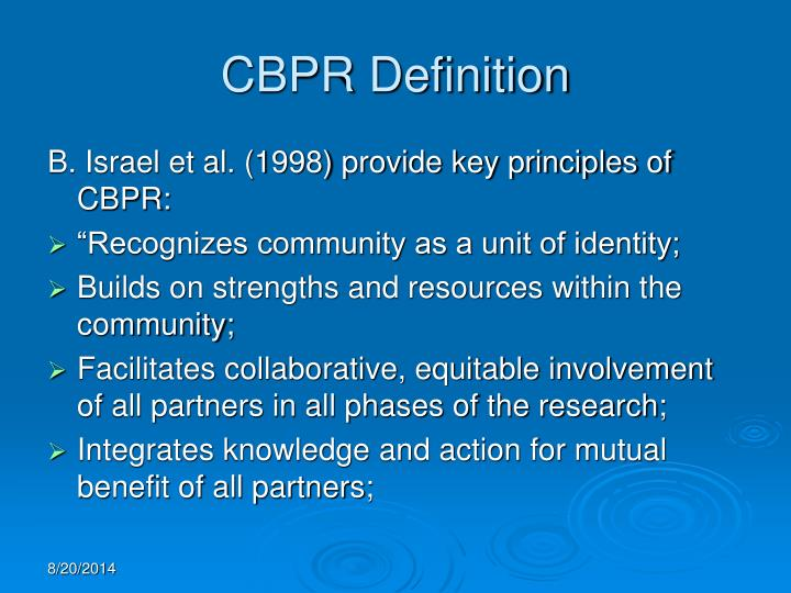 CBPR Definition
