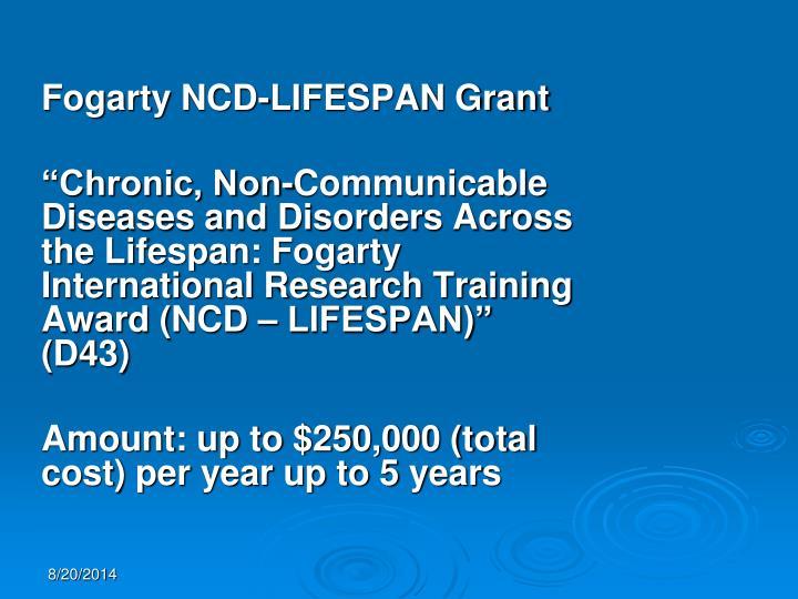 Fogarty NCD-LIFESPAN Grant
