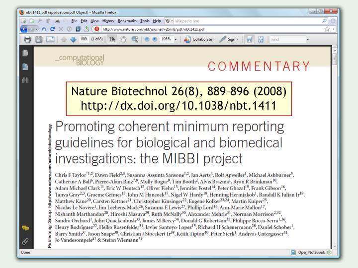 Nature Biotechnol 26(8), 889–896 (2008)