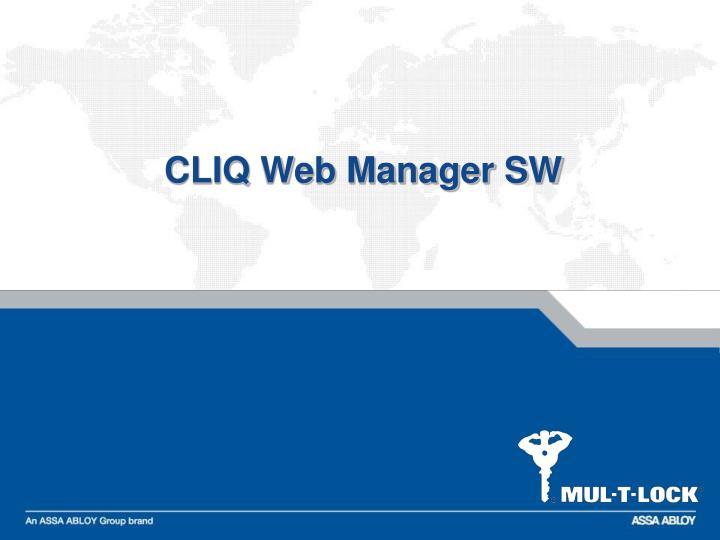CLIQ Web Manager SW