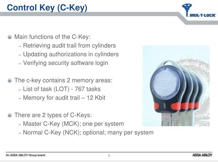 Control Key (C-Key)