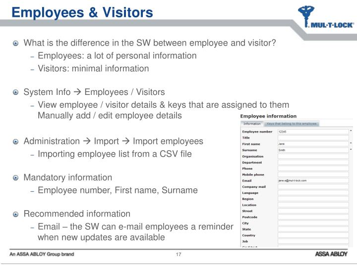 Employees & Visitors