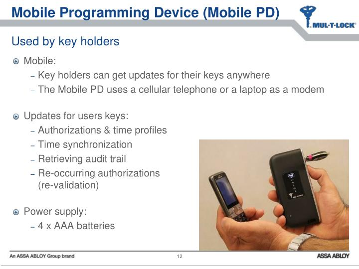 Mobile Programming Device (Mobile PD)