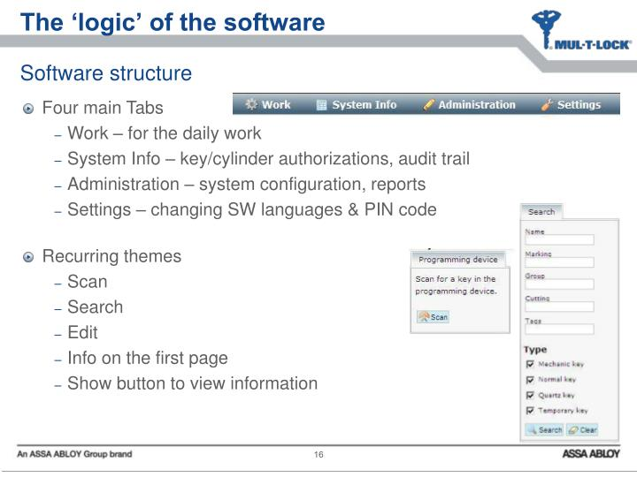 The 'logic' of the software