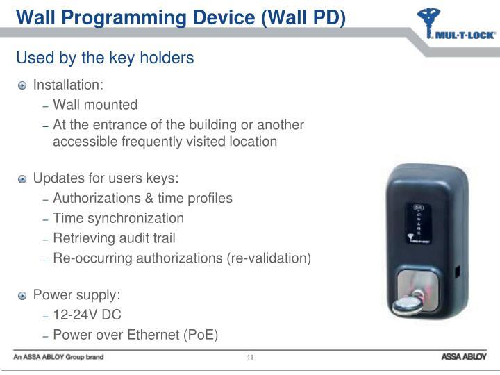 Wall Programming Device (Wall PD)