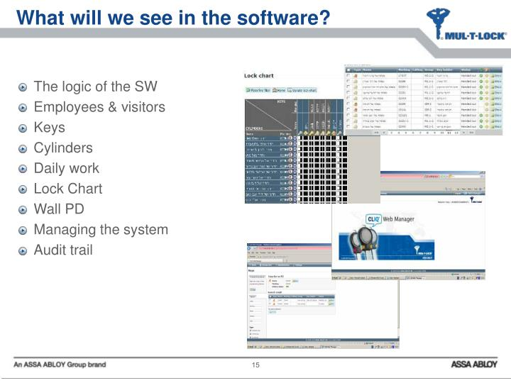 What will we see in the software?