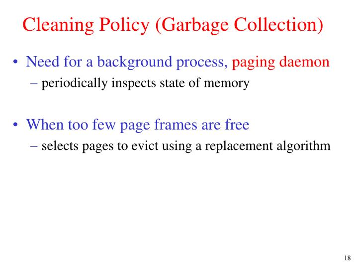 Cleaning Policy (Garbage Collection)