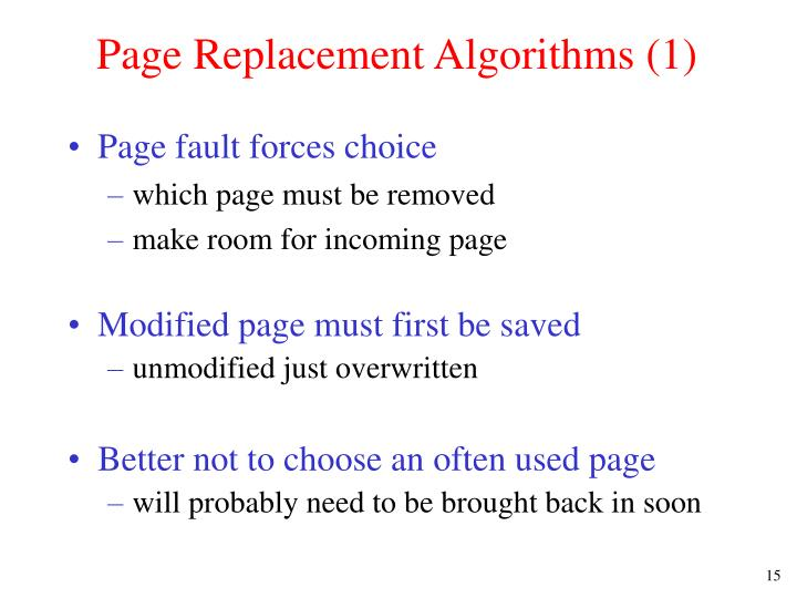 Page Replacement Algorithms (1)