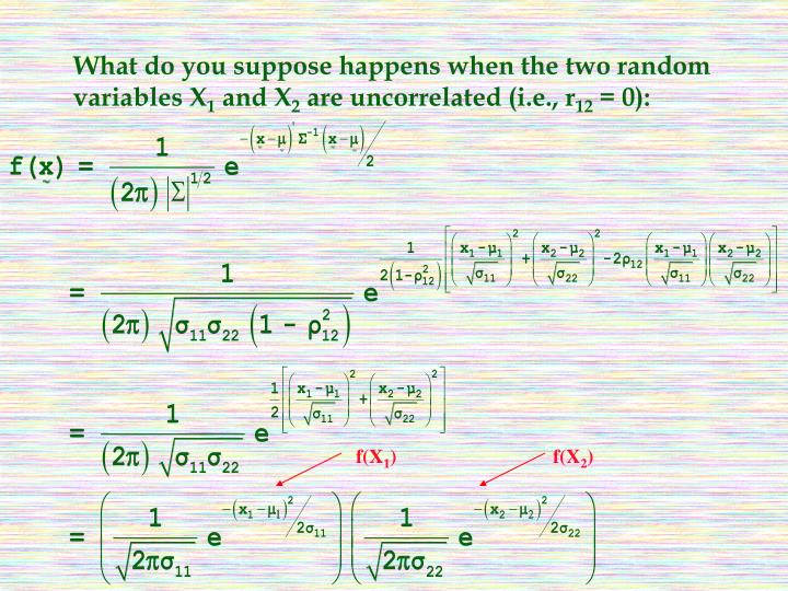 What do you suppose happens when the two random variables X