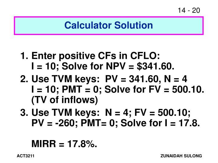 Calculator Solution