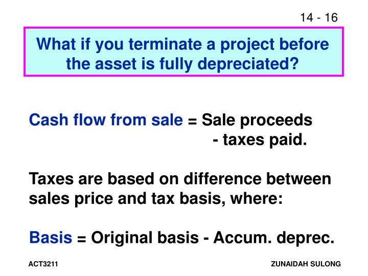 What if you terminate a project before the asset is fully depreciated?