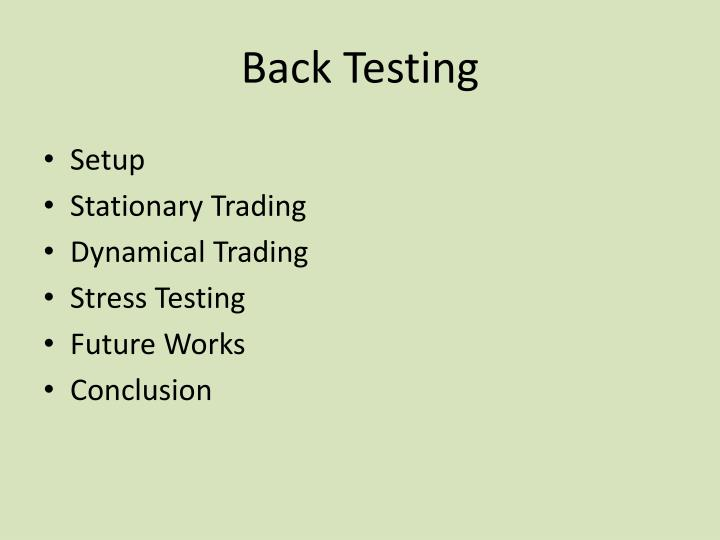 Back Testing