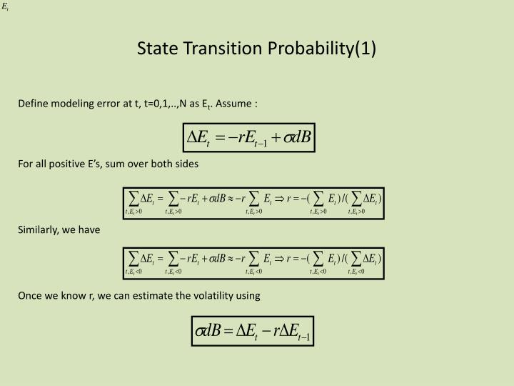 State Transition Probability(1)