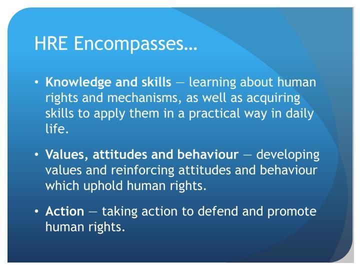 HRE Encompasses…