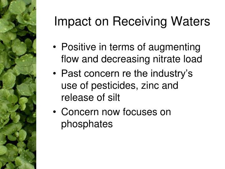 Impact on Receiving Waters