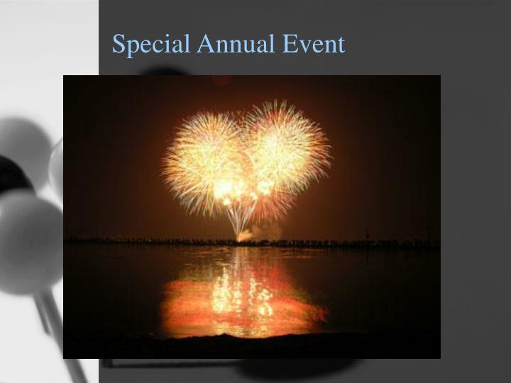 Special Annual Event