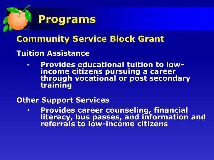 Community Service Block Grant