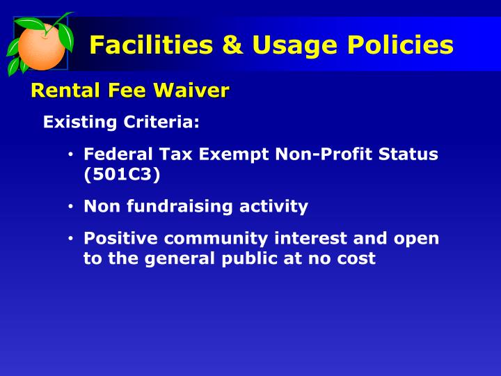 Rental Fee Waiver