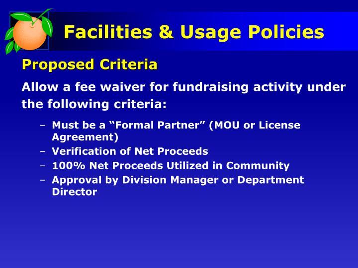 Proposed Criteria