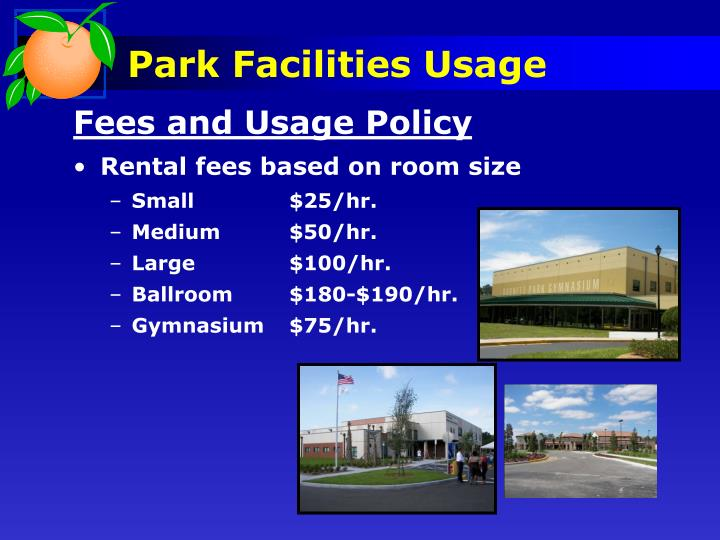Park Facilities Usage