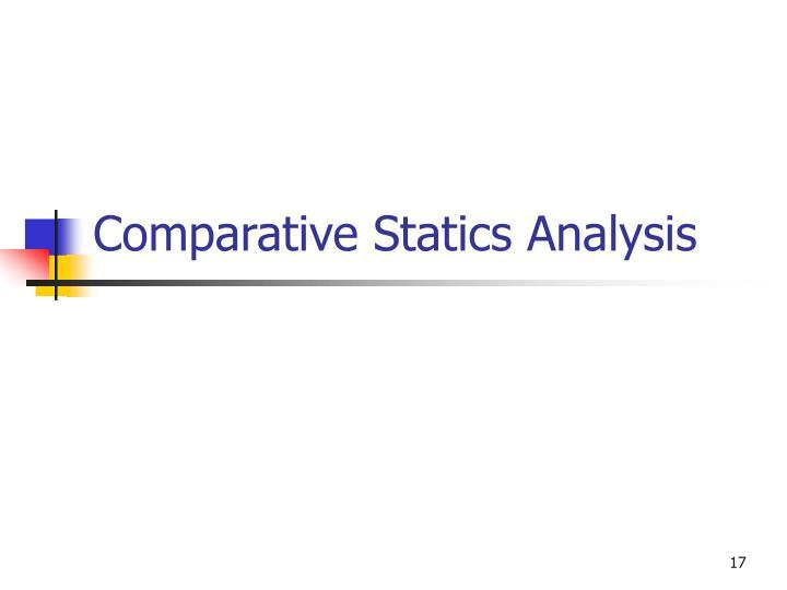 Comparative Statics Analysis