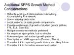 additional spps growth method considerations