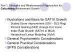 part 1 strengths and weaknesses of approaches for calculating achievement growth