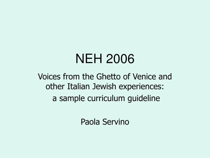 NEH 2006