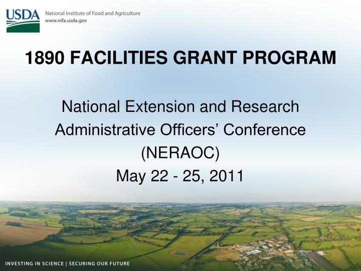 1890 facilities grant program