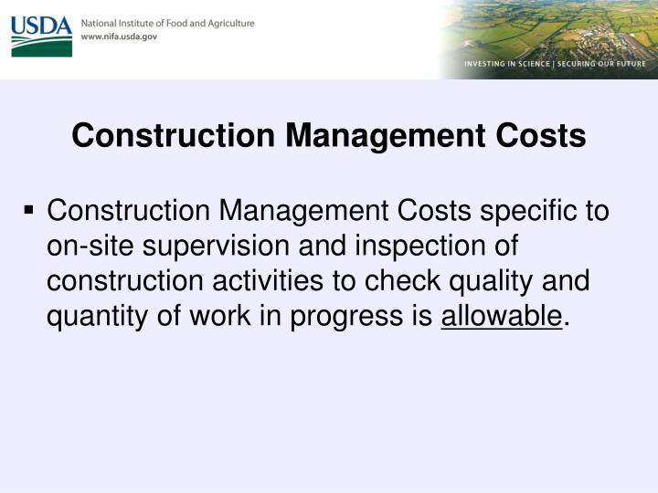 Construction Management Costs