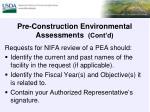 pre construction environmental assessments cont d1