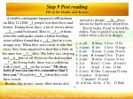 step 9 post reading fill in the blanks and discuss
