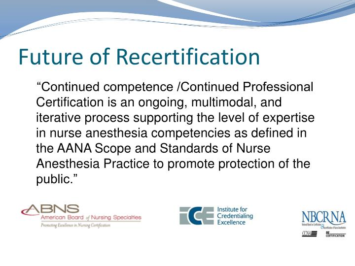 Future of Recertification
