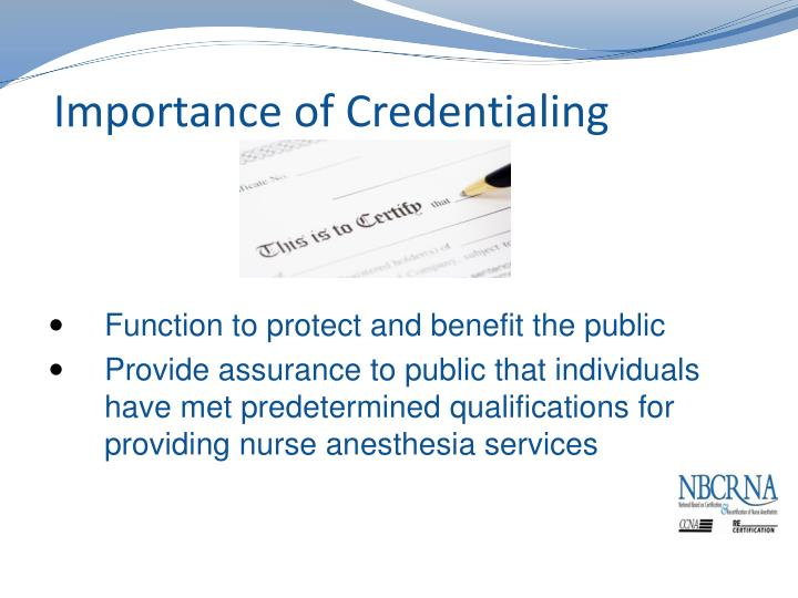 Importance of Credentialing