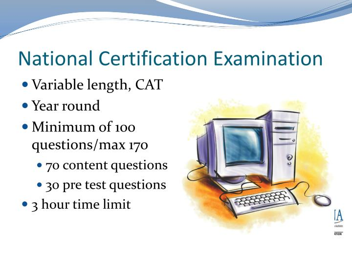 National Certification Examination