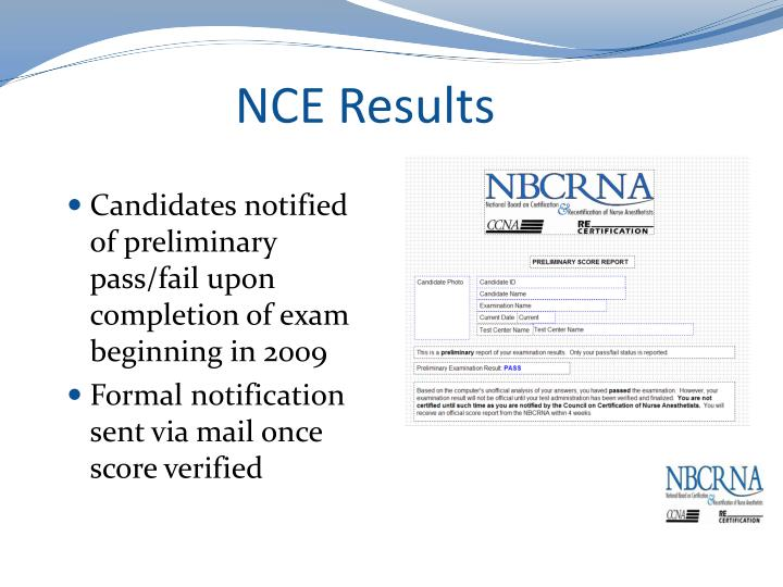 NCE Results