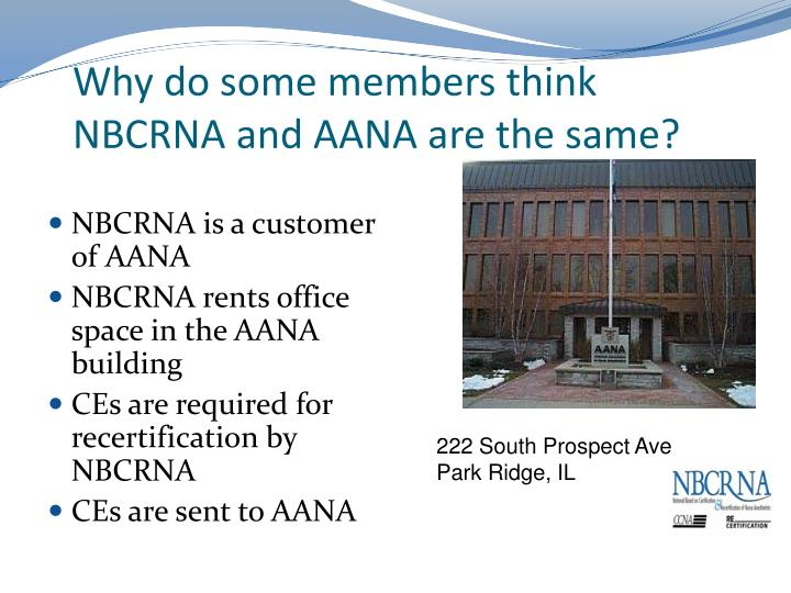 Why do some members think NBCRNA and AANA are the same?