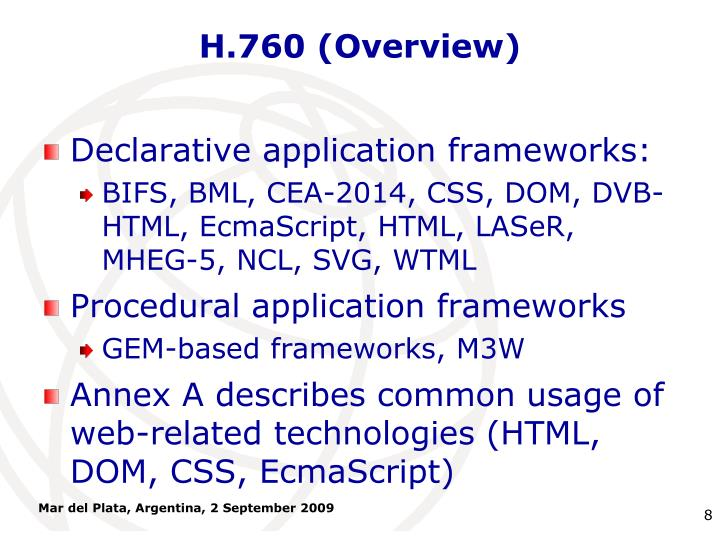 H.760 (Overview)