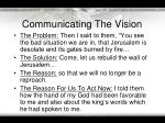 communicating the vision